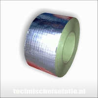 Aluminium tape, gewapend 75mm  1 rol